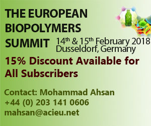 The European Biopolymers Summit, 14th-15th February 2018 in Dusseldorf, Germany @ Dusseldorf, Germany