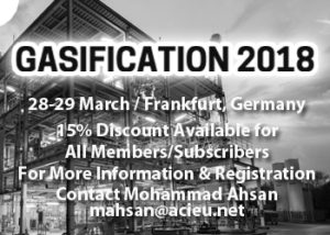 Gasification 28th-29th March in Frankfurt, Germany @ Frankfurt, Germany
