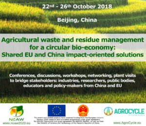 AgroCycle mission to China - 22nd-26th October 2018