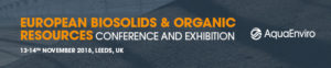 European Biosolids & Organic Resources Conference & Exhibition @ The Royal Armouries